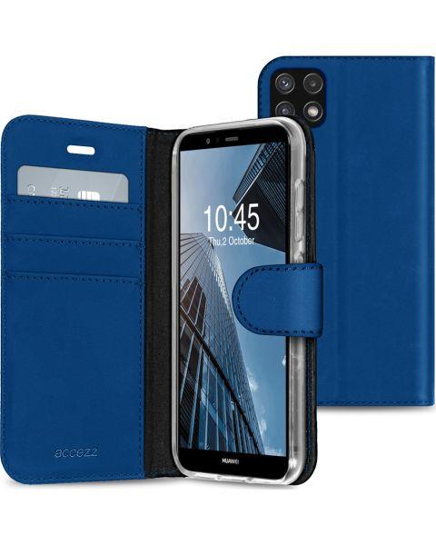 Wallet Softcase Booktype Galaxy A22 (5G) - Donkerblauw - Donkerblauw / Dark Blue