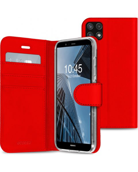Wallet Softcase Booktype Samsung Galaxy A22 (5G) - Rood - Rood / Red