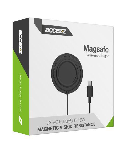 USB-C naar MagSafe Wireless Charger Anti Slip - Zwart - Zwart / Black