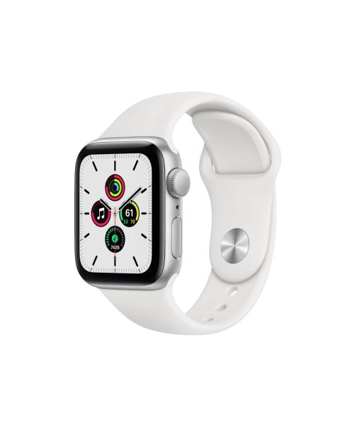 Refurbished Apple Watch Series SE 40mm   Aluminiumgehäuse Silber   weiße Sportband