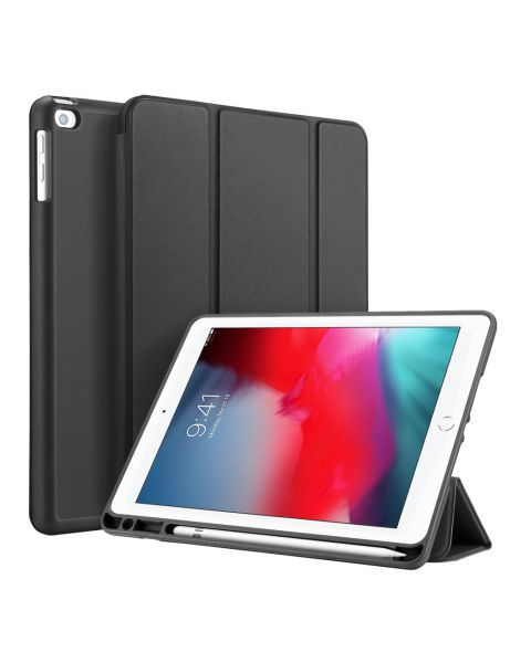 Smart Silicone Bookcase iPad (2018) / (2017) / Air (2) - Zwart / Black