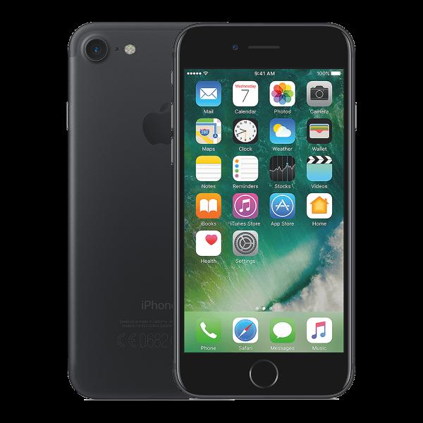 Refurbished Iphone 7 gitzwart