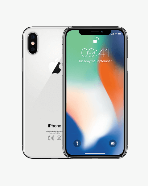 Refurbished iPhone X 256 GB Silber
