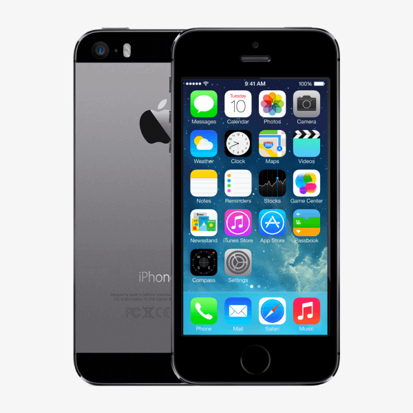 Refurbished iPhone 5S 16GB schwarz / grau